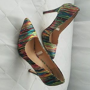 multi colored shoes. Gently used.